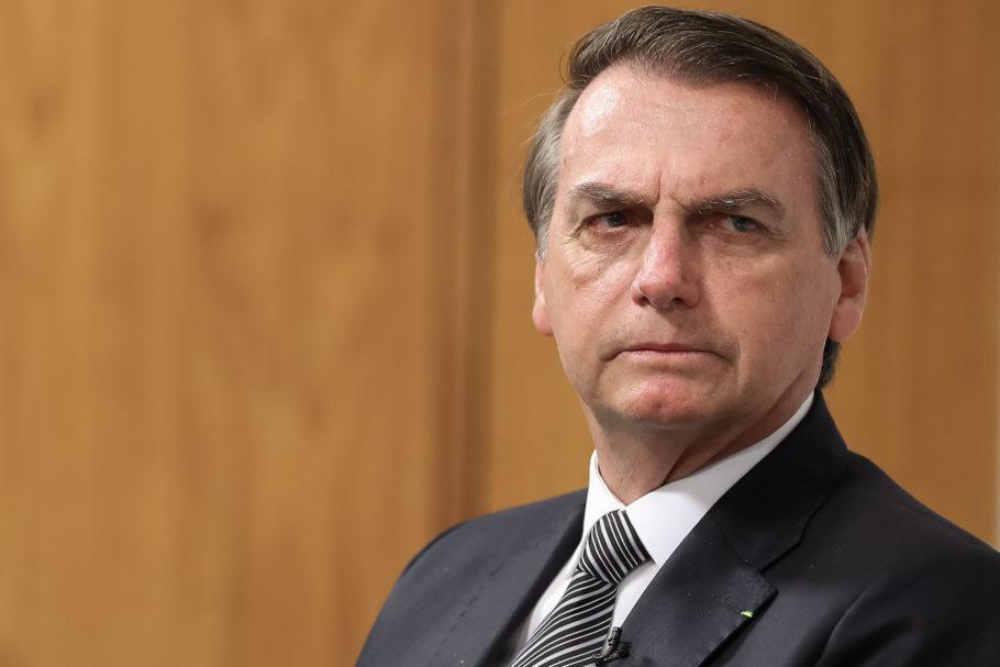 Presidente Jair Bolsonaro no Palácio do Planalto, em Brasília