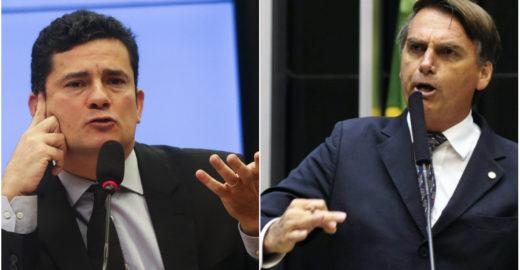 Bolsonaro procura Sérgio Moro para conversar sobre mensagens