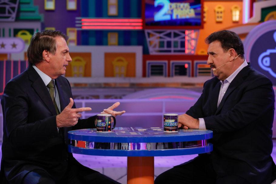 """Bolsonaro durante entrevista no """"Programa do Ratinho"""", no SBT"""