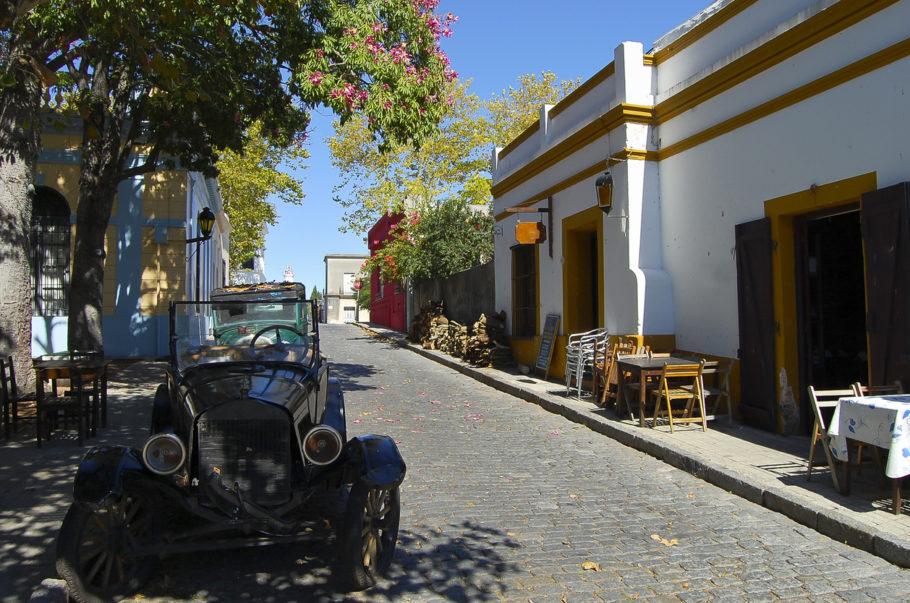 As ruas tranquilas de Colônia do Sacramento, no Uruguai