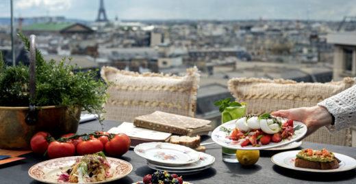 Galeries Lafayette, em Paris, ganha restaurante 100% vegetariano