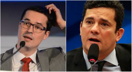 Deltan Dallagnol e Sérgio Moro