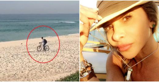 Dany Bananinha grava cena de assédio na praia e impede nova vítima