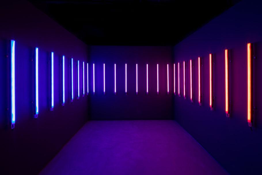Instalação na mostra imersiva Metaverso no Farol Santander