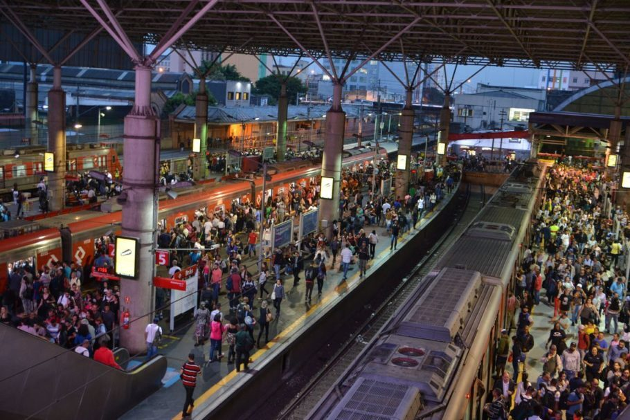 Estação Brás de trem da Companhia Paulista de Trens Metropolitanos (CPTM)