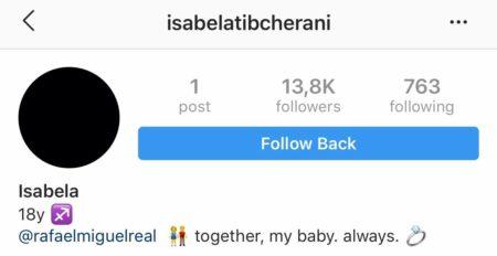 Instagram de Isabela