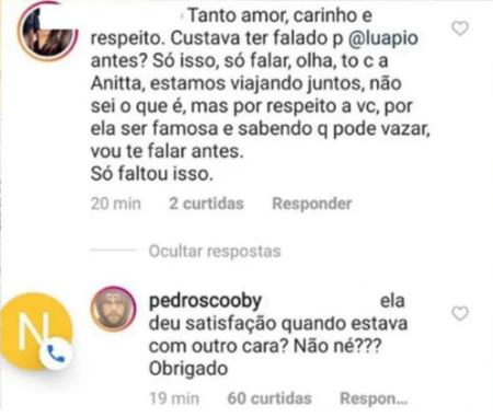 Pedro Scooby é criticado por namoro com Anitta e responde à altura