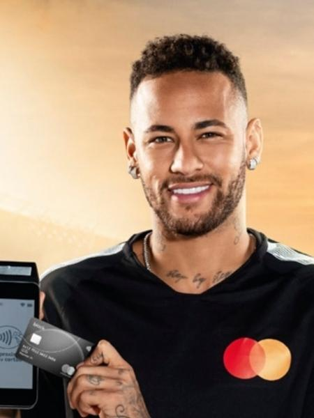 Neymar em campanha da Mastercard que foi cancelada