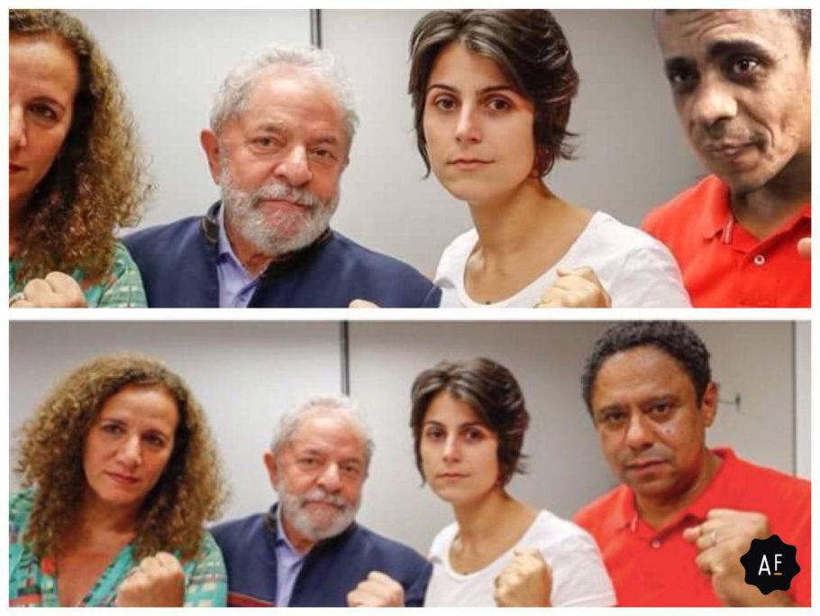 Imagem Fake para mostrar ligação de Lula com Adélio
