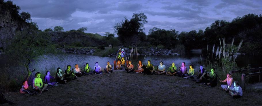 série píxeles de ALEJANDRO CHASKIELBERG para a mostra AINDA HÁ NOITE no itaú cultural