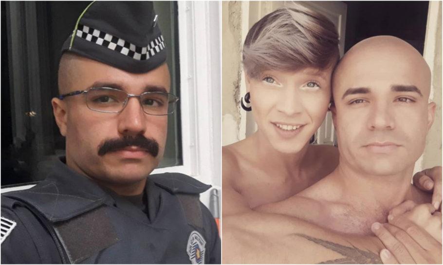 O soldado Leandro Prior e o namorado Elton da Silva Luiz