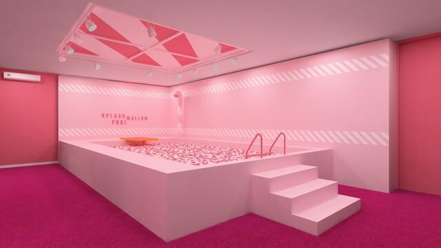 Uma das grandes atrações do Museu Mais Doce do Mundo é a piscina de Marshmallow