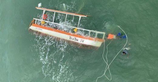 Acidente com catamarã mata dois turistas em Alagoas