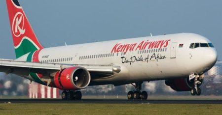Avião Kenya Airways