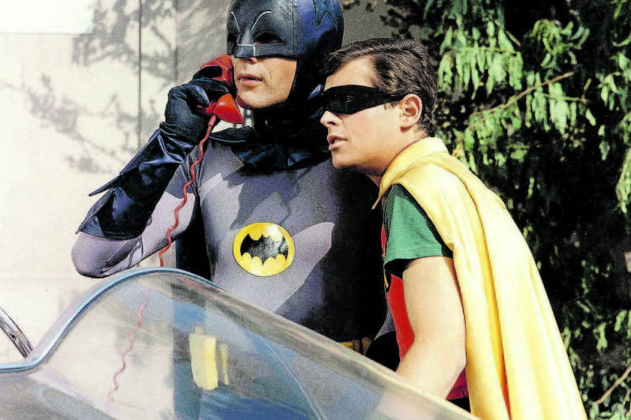 Adam West e Burt Ward, como Batman e Robin, no seriado do Homem Morcego de 1966