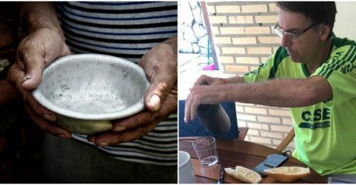 Jair Bolsonaro: 'passar fome no Brasil é uma grande mentira'