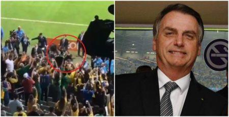bolsonaro assistindo ao jogo brasil e argentina