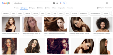 cabelo bonito google