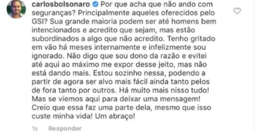 Carlos Bolsonaro suspeita de tráfico de drogas no Palácio do Planalto