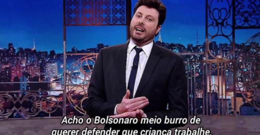 Danilo Gentili segue Rachel Sheherazade e detona Jair Bolsonaro