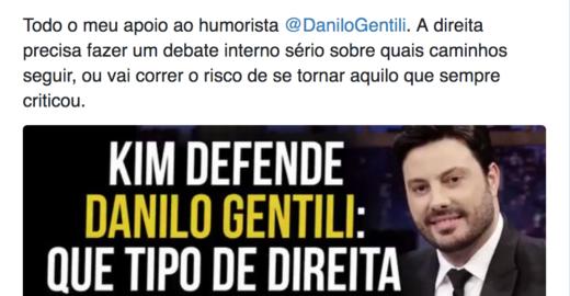 Dimenstein: Kim Kataguiri faz a melhor defesa de Danilo Gentili