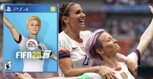 Campanha mundial pede pela jogadora Megan Rapinoe na capa do FIFA