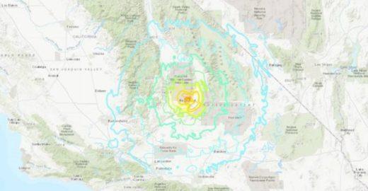 Terremoto de 6,4 graus atinge sul da Califórnia, nos EUA