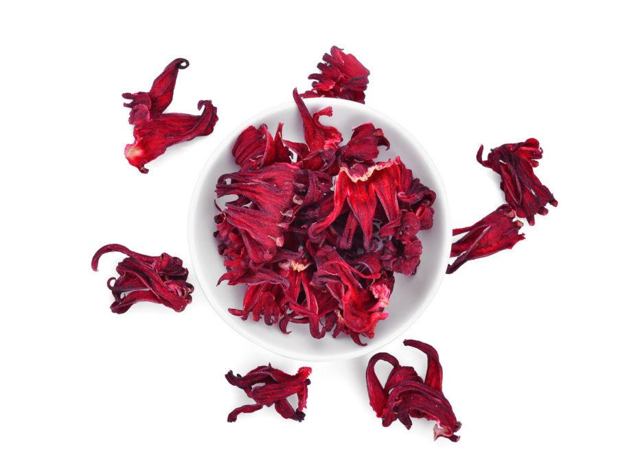 folhas de hibisco secas