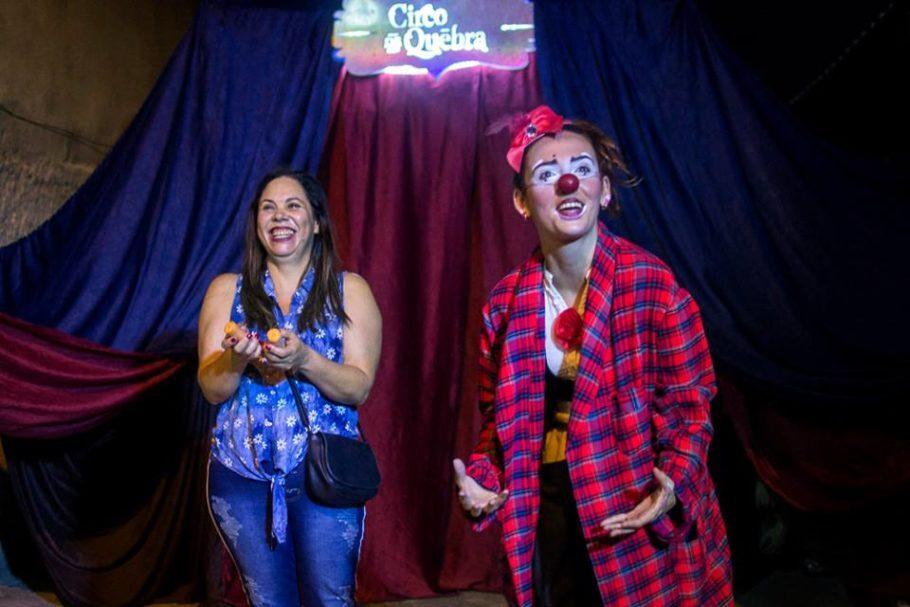 Trecho de espetáculo do Circo de Québra