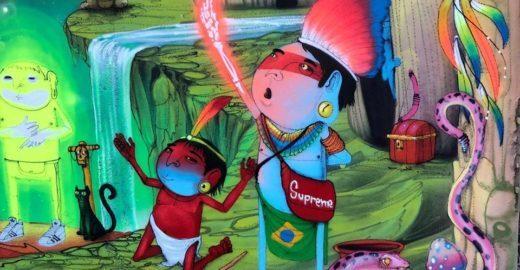 Cranio apresenta seus índios azuis em expo de curta temporada em SP