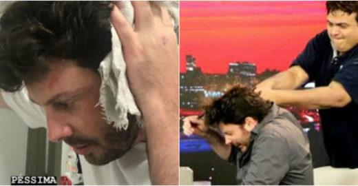 Danilo Gentili é agredido e internautas apontam armação