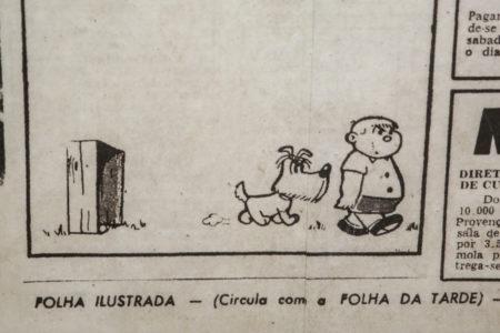 tira do cãozinho bidu e franjinha publicada por mauricio de sousa na folha da tarde em 1959