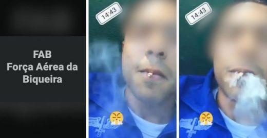 Soldado posta vídeo fumando e chama FAB de 'Força Aérea da Biqueira'