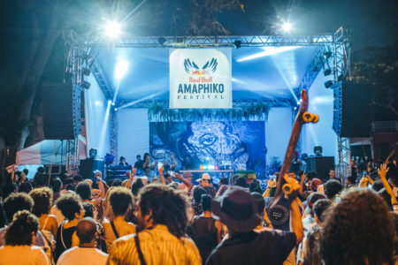 palco do Festival Red Bull Amaphiko no centro cultural grajaú