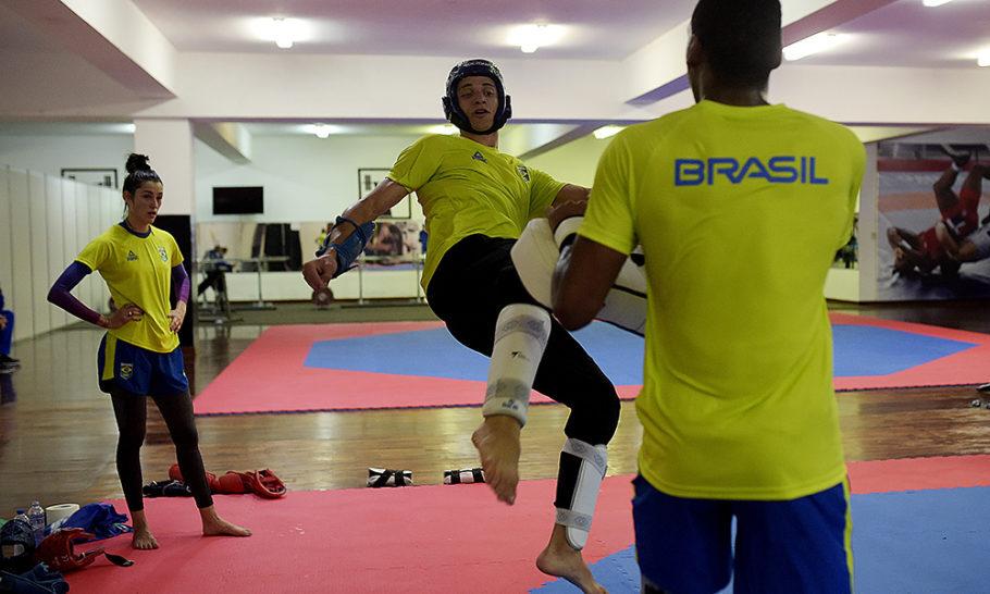 Ícaro Miguel, lutador de taekwondo