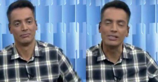 Leo Dias negou estar sob efeito de drogas durante o 'Fofocalizando'