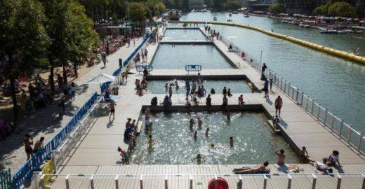 Paris ganha piscinas públicas em bacia com águas do rio Sena