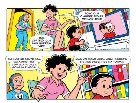 É a primeira vez que o personagem autista André é capa de revista de linha da Turma da Mônica