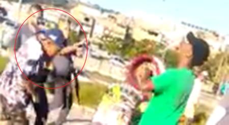 policial dá tapa na cara de menino por causa de uma pipa