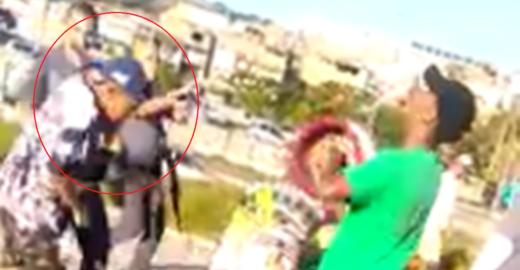 PM é flagrado dando tapa na cara de criança por causa de uma pipa