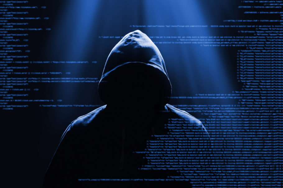 imagem que retratar um hacker