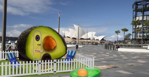 Austrália tem acomodação inusitada em forma de abacate