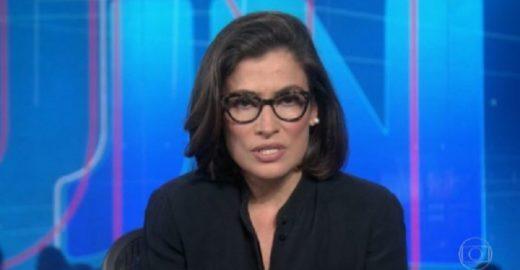 Durante o JN, Globo defende Miriam Leitão contra ataque de Bolsonaro