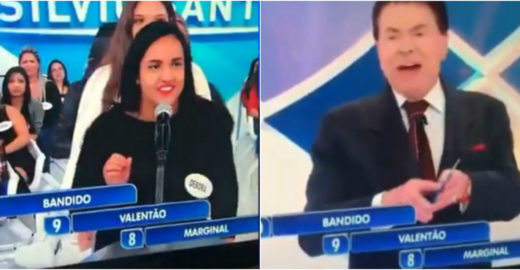 Programa Silvio Santos: mulher ouve 'bandido' e responde 'Bolsonaro'