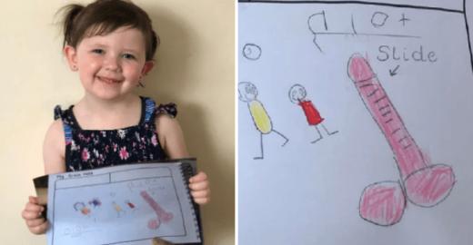 Desenho de menina de 4 anos deixa mãe constrangida no País de Gales