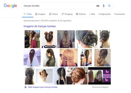tranças bonitas google