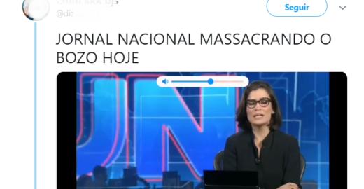 JN fica nos trends após repudiar Bolsonaro e defender Miriam Leitão