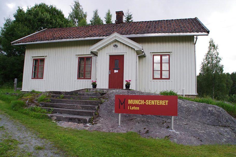 Uma casa que é o museu Munch em Loten