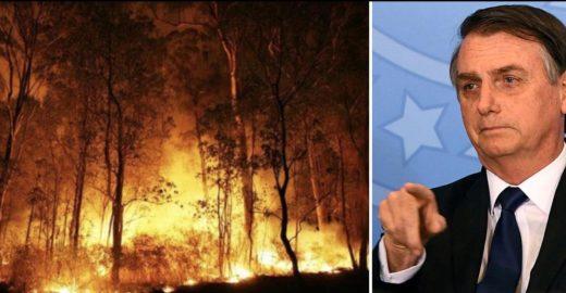 Folha prova que Bolsonaro está mentindo sobre as queimadas