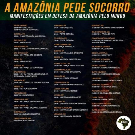 protestos amazônia
